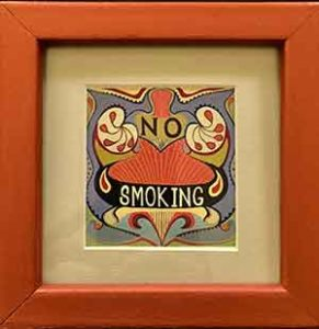 No Smoking (inside)